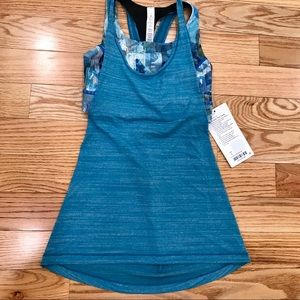 NWT Lululemon Teal Twist and Toil Workout Tank